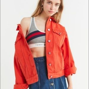 BDG Bright Orange Denim Jacket